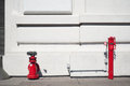 Red fire hydrants with white background in san francisco Royalty Free Stock Image