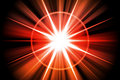 Red Fire Star Sunburst Abstract Stock Photo