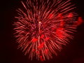 Red firework blast Stock Photos