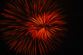 Red firework color on black night sky Royalty Free Stock Photos