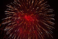 Red Fireworks Royalty Free Stock Photo