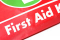 Red first aid emergency kit Royalty Free Stock Images