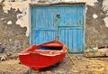 Red fishing boat Royalty Free Stock Photo