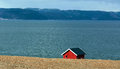 Red fishing cabin Royalty Free Stock Photo