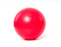 Red Fitness Ball On White Back...