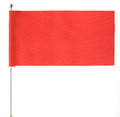 Red flag waving on the wind Royalty Free Stock Images