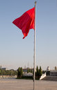 Red flags on the tiananmen square beijing china is a large city in center of Stock Image