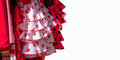 Red flamenco dresses on white background in Seville, Andalusia Royalty Free Stock Photo