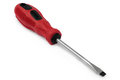 Red flat tip screwdriver Royalty Free Stock Photo