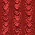 Red floor length curtains Royalty Free Stock Photos