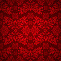 Red floral gothic Royalty Free Stock Image