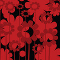 Red floral icon Stock Images