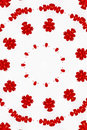 Red floral kaleidoscope Royalty Free Stock Image