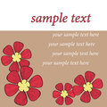 Red flower card pattern design Stock Photo