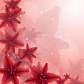 Red flower illustration of flowers background vector eps clip art Royalty Free Stock Images