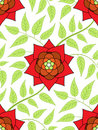 Red flower seamless pattern Stock Photos
