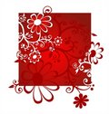 Red flowers Stock Images