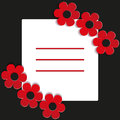 Red flowers on a black background illustration Royalty Free Stock Photos