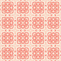Red flowers with hearts beautiful nature abstract pattern and on a beige background Stock Photos