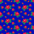 Red flowers seamless pattern Stock Images