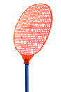 Red fly swatter Royalty Free Stock Photo