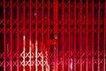 Red Folding Door