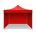 Red folding tent illustration on white Royalty Free Stock Photo