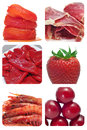 Red food collage Royalty Free Stock Image