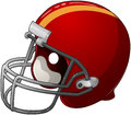 Red football helmet a vector illustration of a Royalty Free Stock Photo