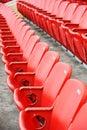 Red football seats Royalty Free Stock Photo
