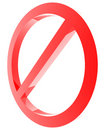 Red forbidden sign Stock Photo