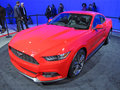 Red ford mustang photo of at the washington dc auto show in washington dc on this muscle car is modern and will be available fall Royalty Free Stock Image