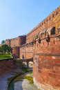 Red Fort in Agra, Amar Singh Gate, Stock Photo