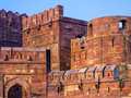 Red Fort in Agra, Amar Singh Gate, Stock Photos