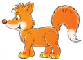 Red Fox Cartoon Illustration Royalty Free Stock Photography