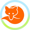 Red fox in a circle Royalty Free Stock Images