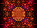 Red fractal background Royalty Free Stock Photo