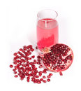 Red fresh pomegranate Stock Photo