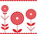 Red fringe Stock Photography
