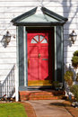 Red front door Royalty Free Stock Photography