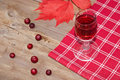 Red fruit liquer (alcohol tincture) Royalty Free Stock Photo