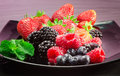 Red fruits selection Royalty Free Stock Images