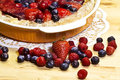 Red fruits tart details Royalty Free Stock Photos