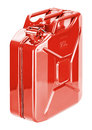 Red fuel storage can (jerry can) Royalty Free Stock Photo