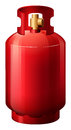 A red gas cylinder illustration of on white background Royalty Free Stock Photo