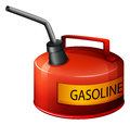 A red gasoline container illustration of on white background Stock Image