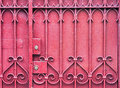 Red Gate with Lock Royalty Free Stock Photo