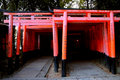 Red gate (torii) in Kyoto Royalty Free Stock Photography