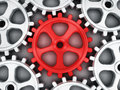 Red gear part Royalty Free Stock Photo