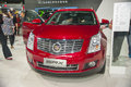 Red geely srx car new in the th zhengzhou dahe spring international auto show take from zhengzhou henan china Stock Image